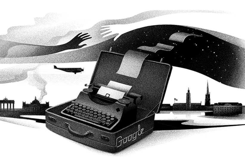 Google Doodle in honor of Nelly Sachs (photo credit: GOOGLE/DANIEL STOLLE)