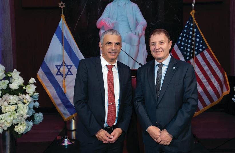 Moshe Kahlon and Ziv Aviram (photo credit: SHMULIK ALMANI)
