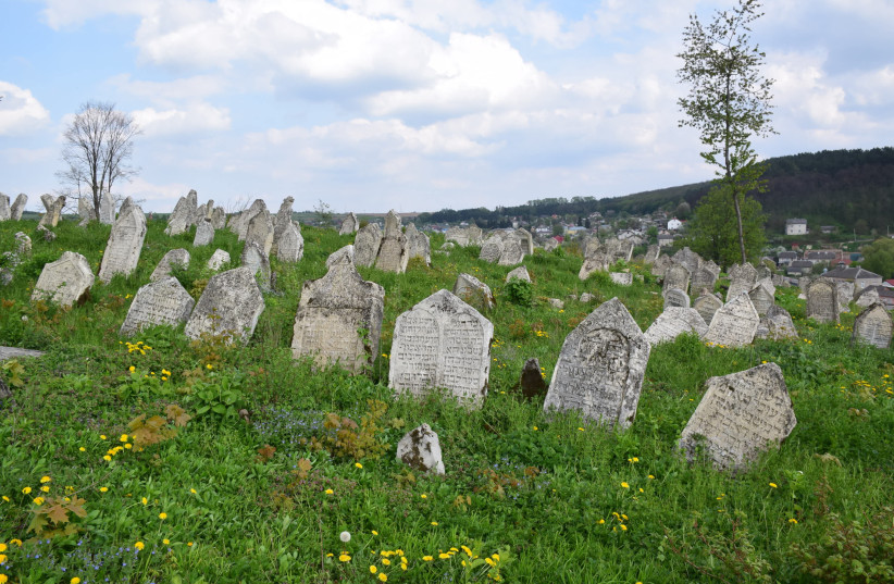The Jewish cemetery in Buchach, Ukraine after being restored, 2018. (photo credit: COURTESY OF ESJF)