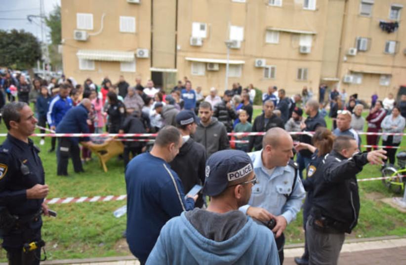 Murder scene in Acre, December 11, 2018 (photo credit: POLICE SPOKESPERSON'S UNIT)