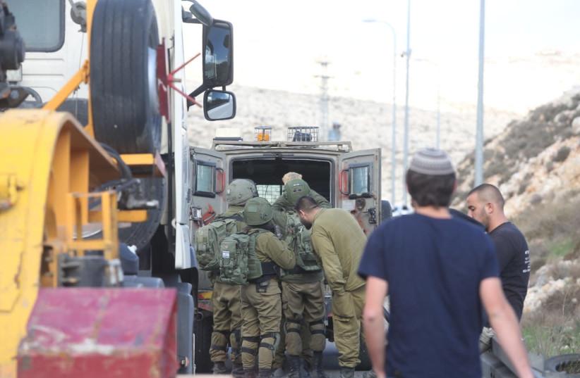 Terror attack Givat Asaf (photo credit: MARC ISRAEL SELLEM/THE JERUSALEM POST)