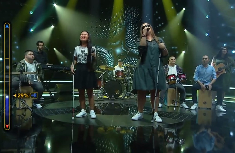 The Shalva Band auditions on 'Kochav Haba' for a shot at competing in next year's Eurovision (photo credit: KESHET)