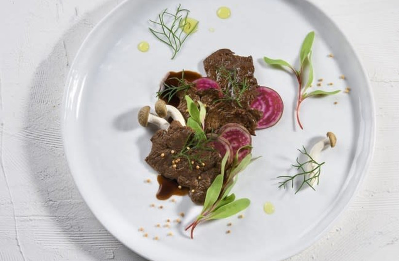 "Aleph Farms' world's first ""cell-grown"" minute steak (photo credit: ALEPH FARMS)"