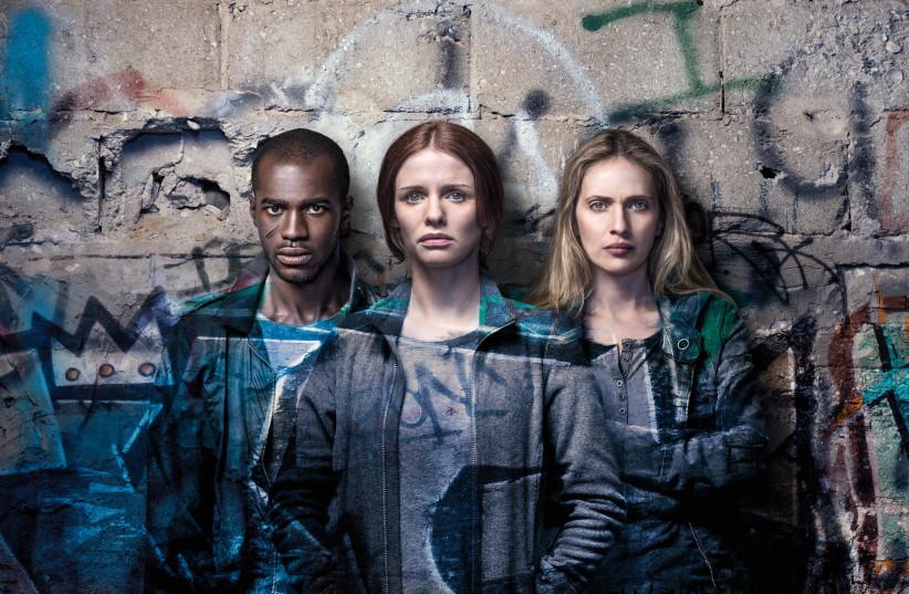 SEAN MONGOZA, Hani Furstenberg and Mali Levi star in 'Asylum City'  (photo credit: OHAD ROMANO/YES)