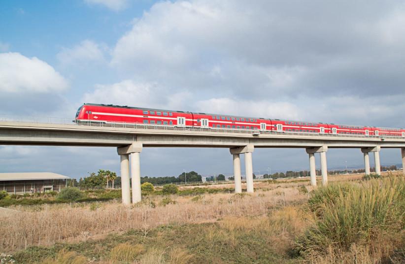 An Israel Railways train. (photo credit: ISRAEL RAILWAYS)