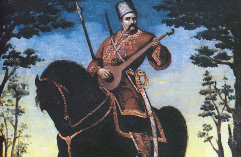 COSSACK MAMAY – the ideal image of Cossack in Ukrainian folklore. (photo credit: Wikimedia Commons)