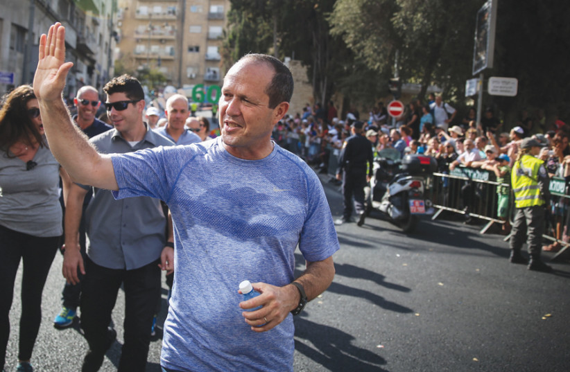 A distance runner himself, in 2011 Nir Barkat successfully launched the first Jerusalem Marathon. (photo credit: Courtesy)