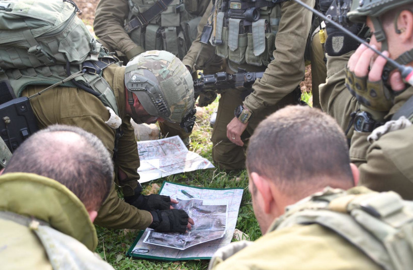 Troops from the IDF's Givati Brigade during large-scale drill in Jordan Valley (photo credit: IDF SPOKESMAN'S UNIT)