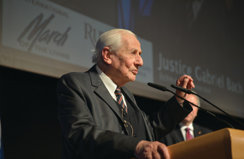 Gabriel Bach, former Supreme Court justice and chief investigator and co-prosecutor of the 1961 Eichmann trial. (photo credit: YOSSI ZIEGLER)