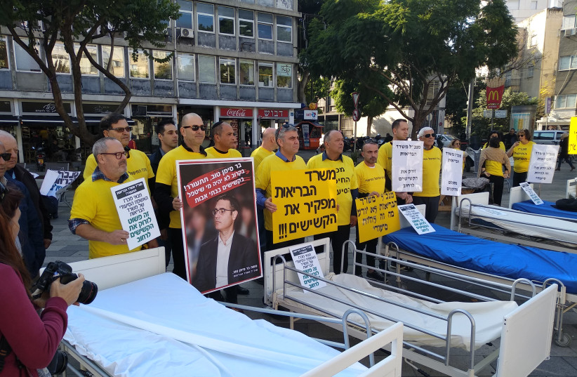 Protests demonstrate against government's elderly care decision, December 23, 2018 (photo credit: Courtesy)