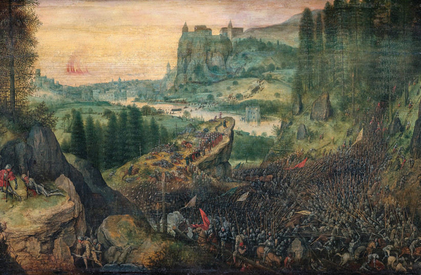 The Sucide of Saul by Pieter Brugel  (photo credit: KHM - MUSEUMSVERBAND)