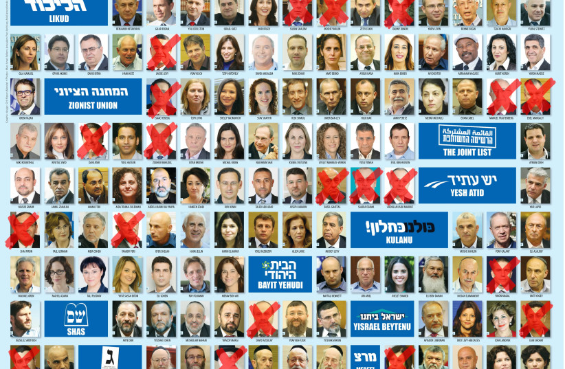 Members of the 20th Knesset who did not see out their terms (photo credit: JPOST STAFF)