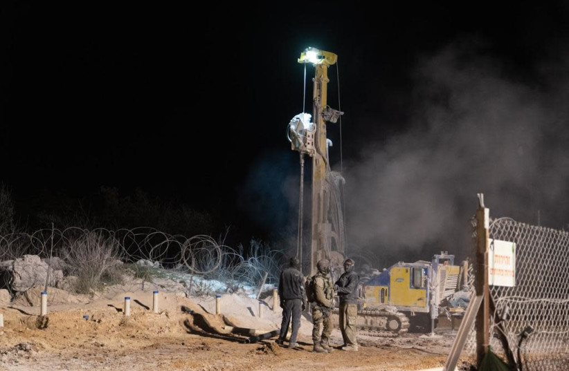 Fifth Hezbollah tunnel located and destroyed by IDF. (photo credit: IDF SPOKESPERSON'S UNIT)
