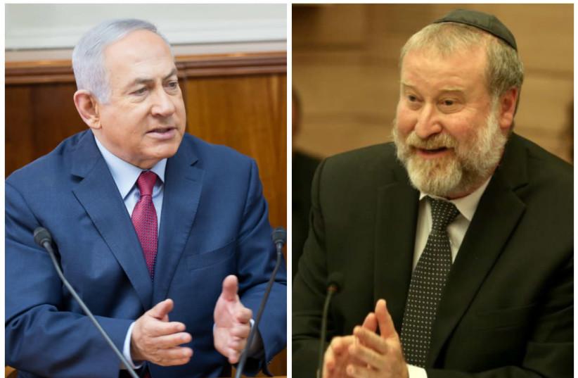 Prime Minister Benjamin Netanyahu and  Attorney-General Avichai Mandelblit (photo credit: EMIL SALMAN/HAARETZ/MARC ISRAEL SELLEM/THE JERUSALEM POST)
