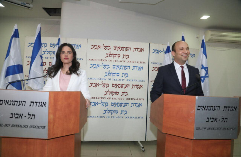 Minister of Education Naftali Bennett and MK Ayelet Shaked announced they are breaking away from Bayit Yehudi an forming a new party.  (photo credit: AVSHALOM SASSONI/ MAARIV)