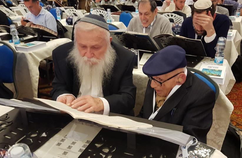 Rav Druckman with Mr. Kurt Rothschild. (photo credit: THE MIZRACHI WORLD MOVEMENT)