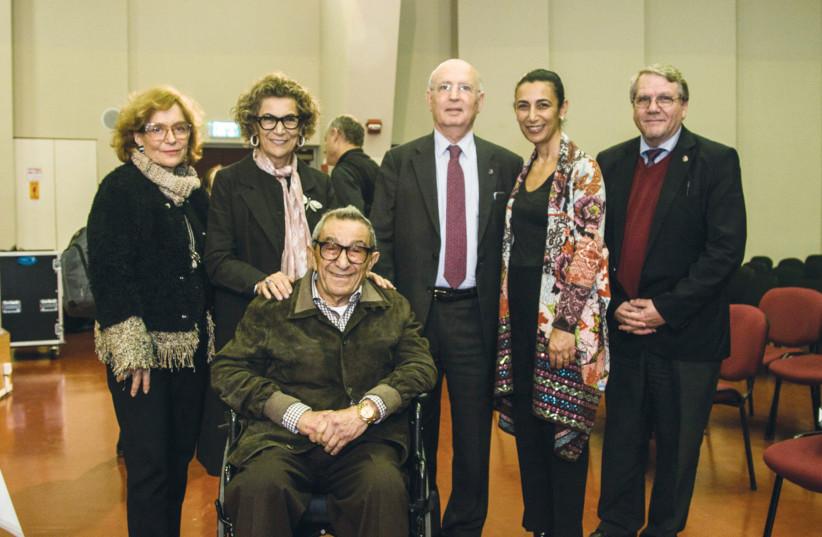 FROM LEFT, Amina Aharis, Soraya and Younes Nazarian, Yair Green, Sharon Nazarian and Noam Leef (photo credit: MATAN REISMAN)