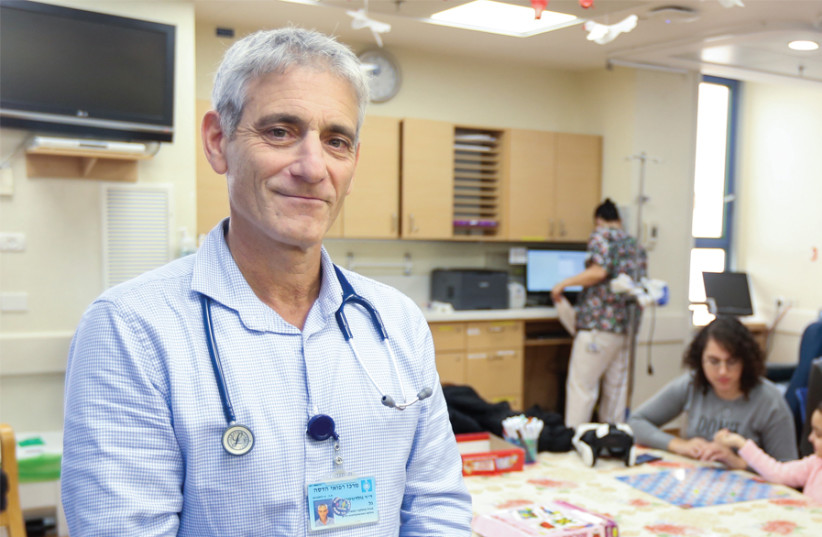 'Delicate and emotional field': Dr. Gal Goldstein, head of Hadassah Ein Kerem's Department of Pediatric Hemato-Oncology. (photo credit: MARC ISRAEL SELLEM)