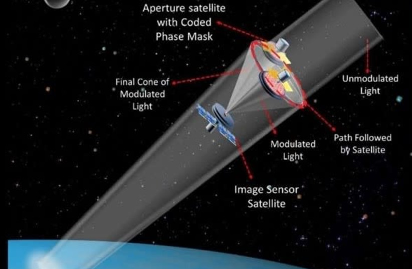 An illustration of Ben-Gurion University's SMART nanosatellite (photo credit: BEN GURION UNIVERSITY OF THE NEGEV)