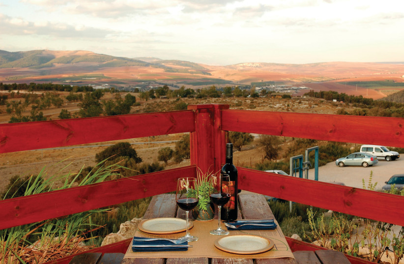 THE HERB FARM restaurant boasts a beautiful view of the valley and mountains, as well as delicious food (photo credit: Courtesy)