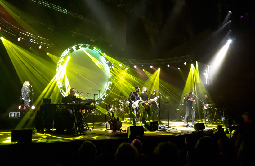 THE COMBINED forces of the UK Pink Floyd Experience and Echoes onstage Saturday night in Tel Aviv. (photo credit: DAVID BRINN)