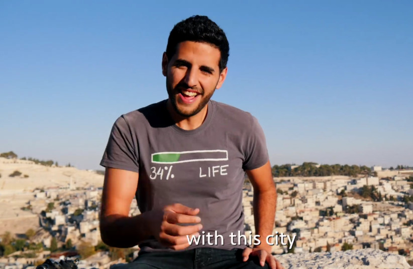 NUSEIR YASSIN, aka Nas Daily, during a video filmed in Jerusalem. (photo credit: screenshot)