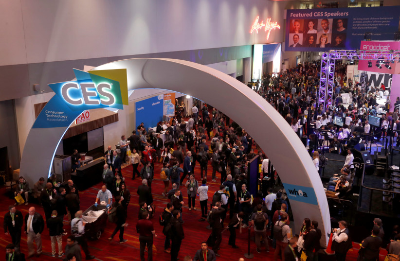 The lobby of the Las Vegas Convention Center is shown prior to the opening of the trade show floor during the 2018 CES in Las Vegas, Nevada, U.S. January 9, 2018 (photo credit: REUTERS/STEVE MARCUS)