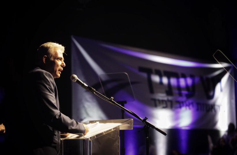 Yair Lapid 2019 elections campaign launch. (photo credit: ADI COHEN ZEDEK)