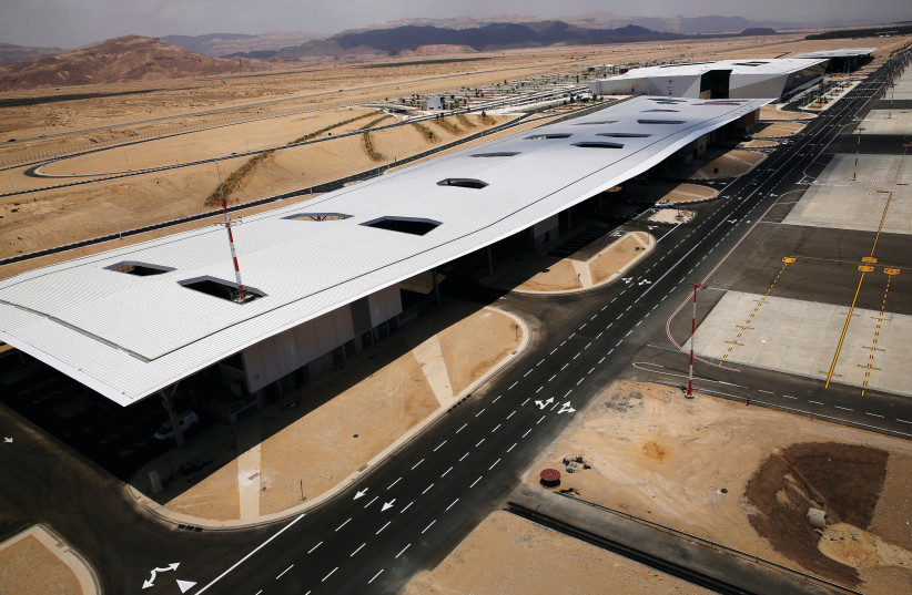 RAMON AIRPORT in the Timna Valley, north of Eilat. (photo credit: AMIR COHEN/REUTERS)