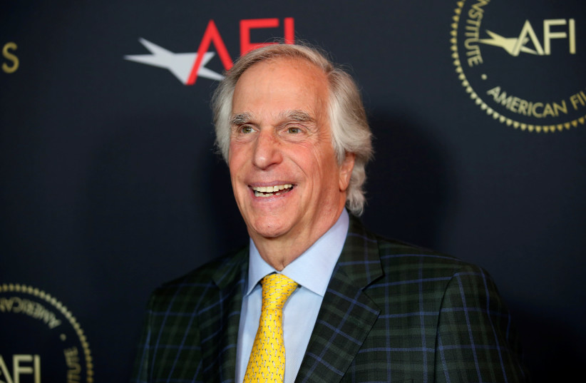 Actor Henry Winkler poses at the annual AFI Awards luncheon in Los Angeles, California, U.S., January 4, 2019 (photo credit: DANNY MOLOSHOK/REUTERS)