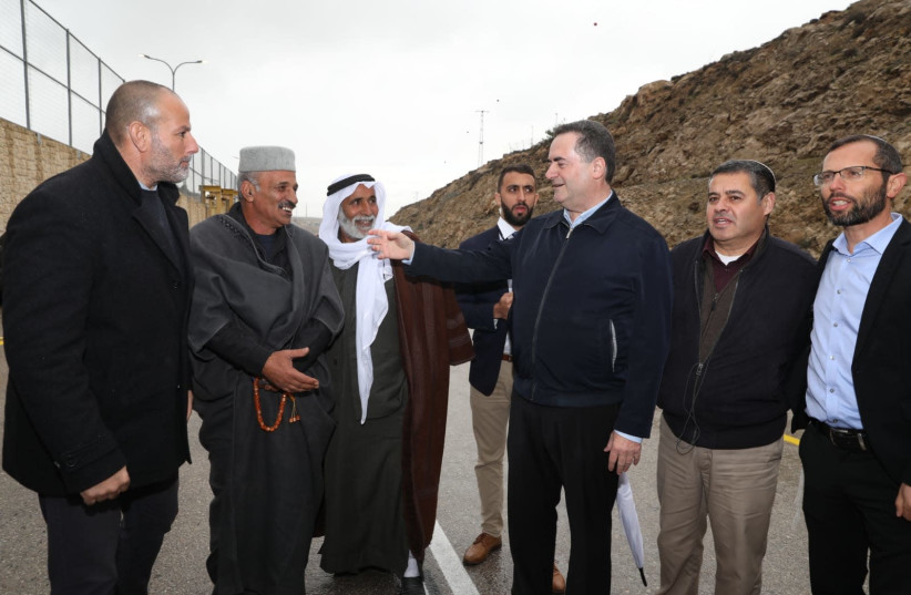 Wednesday's ceremony opening new West Bank road (photo credit: Courtesy)