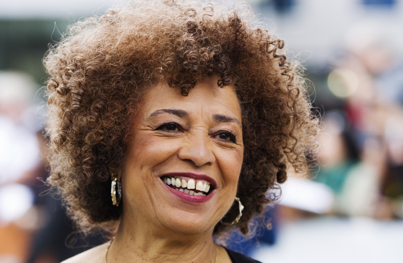 """Activist Angela Davis arrives for the gala presentation of the film """"Free Angela and All Political Prisoners"""", based on her life, at the 37th Toronto International Film Festival, September 9, 2012. (photo credit: MARK BLINCH/ REUTERS)"""