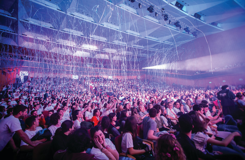 THOUSANDS OF young people from around the world attend a Taglit-Birthright Israel mega event in Jerusalem on January 1 (photo credit: JANE PEIMER)