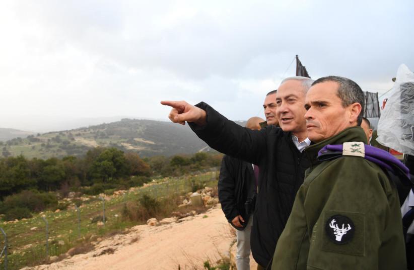 Netanyahu oversees Opeartion Northern Shield January 13, 2019 (photo credit: GPO)