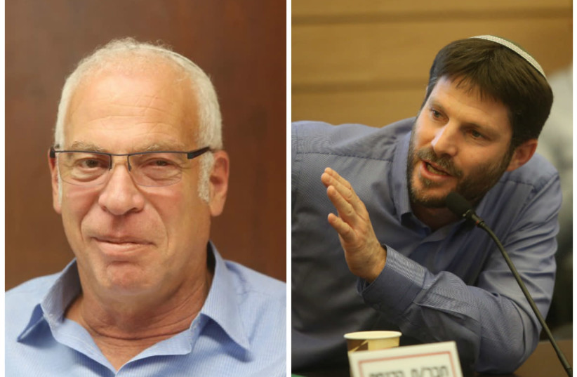 Agriculture Minister Uri Ariel and Bezalel Smotrich (photo credit: MARC ISRAEL SELLEM/THE JERUSALEM POST)