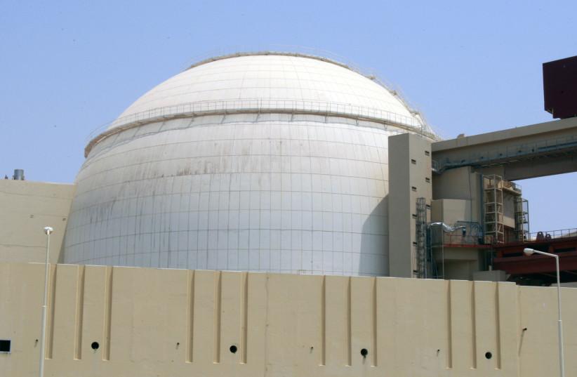 A general view of the Bushehr main nuclear reactor, 1,200 km (746 miles) south of Tehran, 2010 (photo credit: RAHEB HOMAVANDI/REUTERS)