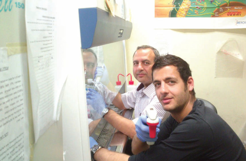 Fuad Fares and his son, Basem, work together at the Technion Faculty of Medicine (photo credit: Courtesy)