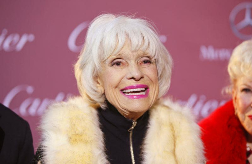 Comedian Carol Channing poses at the 26th Annual Palm Springs International Film Festival Awards Gala in Palm Springs, California January 3, 2015. (photo credit: REUTERS/DANNY MOLOSHOK)