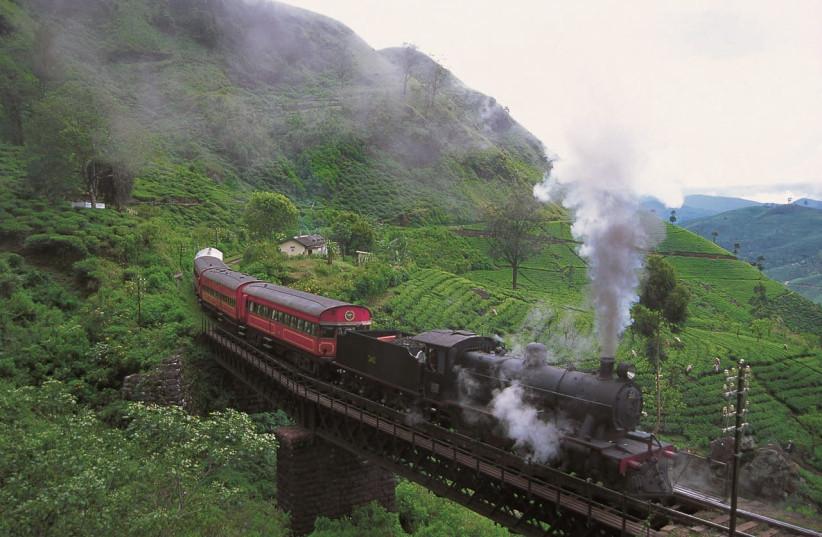 Viceroy Train rolling through Tea Estates  (photo credit: SRI LANKAN MINISTRY OF TOURISM)