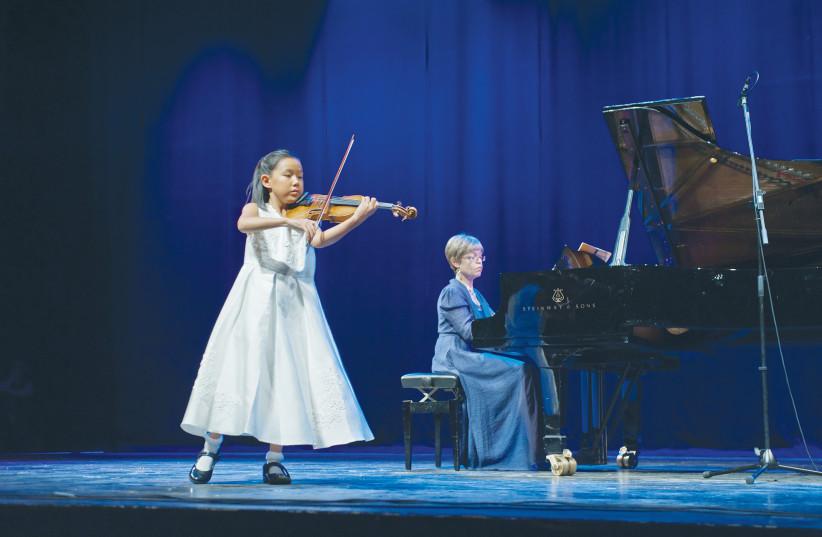 LEIA ZHU performs at the Keshet Eilon Gala Concert at the Tel Aviv Performing Arts Center in 2017 (photo credit: MAXIM REIDER)