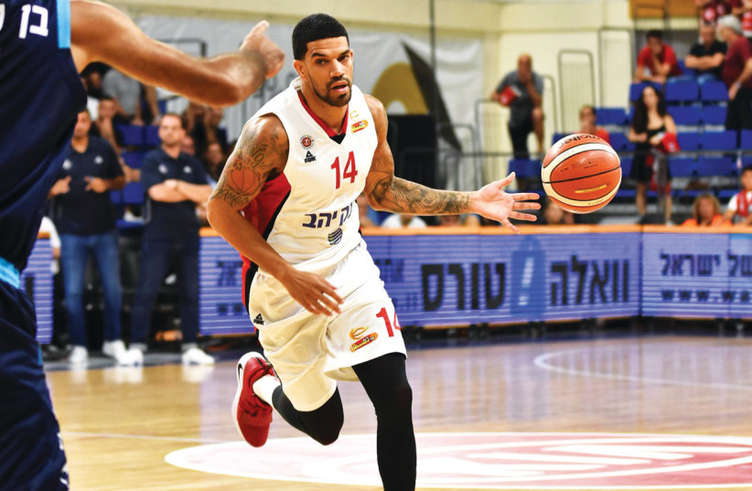 JAMES FELDEINE has made a big impact on Hapoel Jerusalem in his first year with the club, helping the Reds reach the State Cup semifinals. (photo credit: DOV HALICKMAN PHOTOGRAPHY/COURTESY)