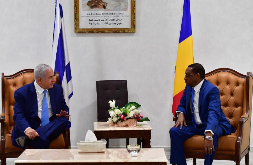 Prime Minister Benjamin Netanyahu visiting Chad. (photo credit: KOBI GIDON / GPO)
