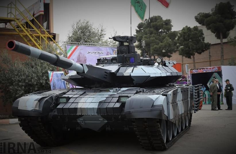 Iranian Karrar Tank (photo credit: WIKIMEDIA)