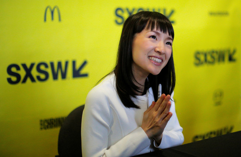 apanese author and creator of the KonMari Method to declutter, Marie Kondo, Austin, Texas, U.S., March 11, 2017. (photo credit: REUTERS/BRIAN SNYDER)