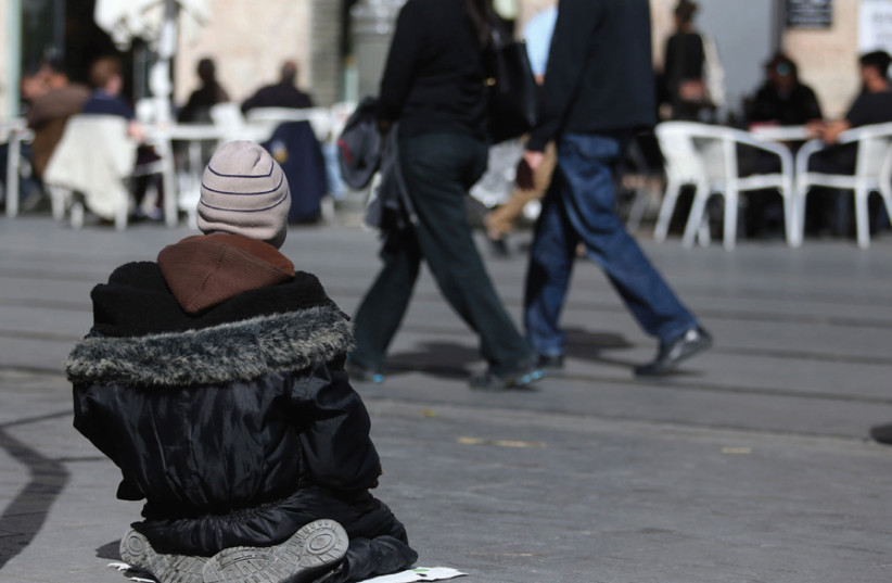 SOME 1.3 MILLION Israeli adults are defined as poor. (photo credit: MARC ISRAEL SELLEM)