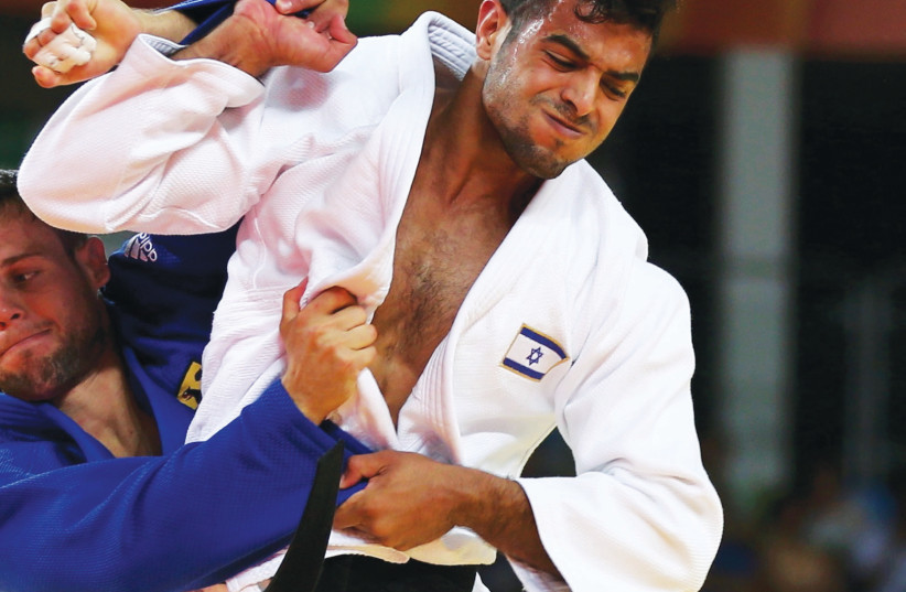 ISRAELI JUDOKA Sagi Muki hopes to emerge from this weekend's historic Tel Aviv Grand Prix with medals in his respective weight-class.  (photo credit: REUTERS)
