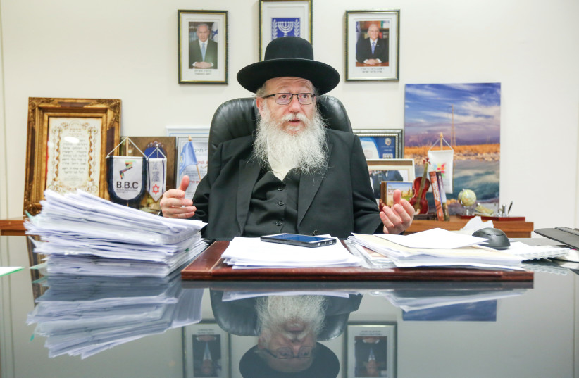 Ya'acov Litzman (photo credit: MARC ISRAEL SELLEM/THE JERUSALEM POST)