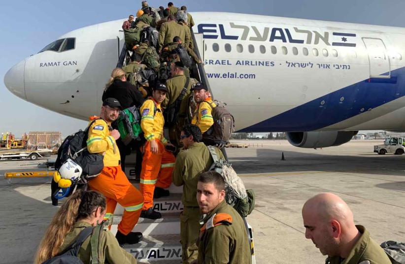 ZAKA, IDF leave for rescue mission to Brazil (photo credit: Courtesy)