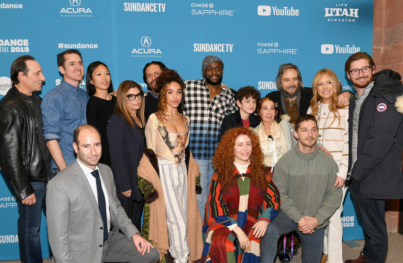 """The cast and crew attend the """"Honey Boy"""" Premiere during the 2019 Sundance Film Festival at Eccles Center Theatre on January 25, 2019 in Park City, Utah (photo credit: DIA DIPASUPIL / GETTY IMAGES NORTH AMERICA / AFP)"""
