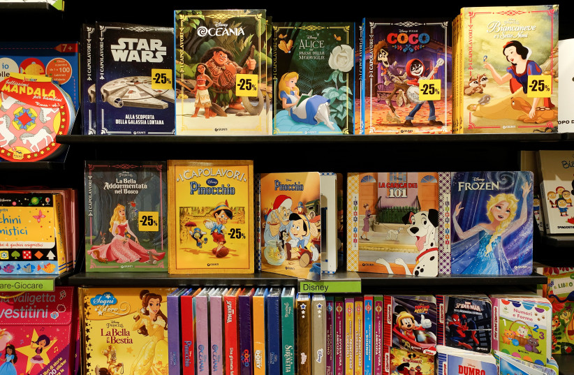 Books for children are seen at the Feltrinelli bookstore in Rome, Italy September 14, 2018 (photo credit: REUTERS/MAX ROSSI)